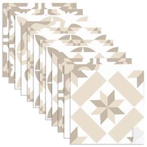 Adesivo para Azulejo Tradicional Bege e Branco