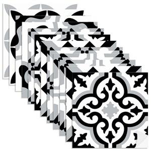 Adesivo para Azulejo Tradicional Preto e Branco