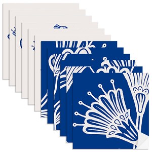 Adesivo para Azulejo Vento Leste Azul I