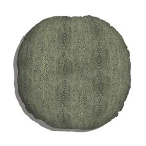 Almofada de Chão Animal Print Verde e Preto I