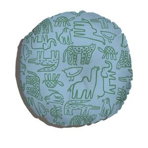 Almofada de Chão Bichos Bacanas Azul e Verde