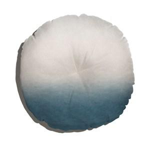 Almofada de Chão Degradê Trinchado Azul Marinho e Branco