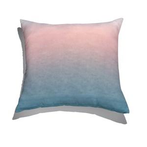 Almofada de Chão Degradê Trinchado Rosa e Azul