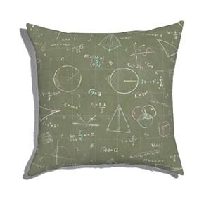 Almofada de Chão Equações Preto e Rosa I