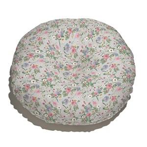 Almofada de Chão Floral Cool Cinza