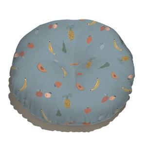 Almofada de Chão Frutas Azul Marinho e Amarelo