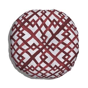 Almofada de Chão Geométrico Desgastado Vermelho e Cinza