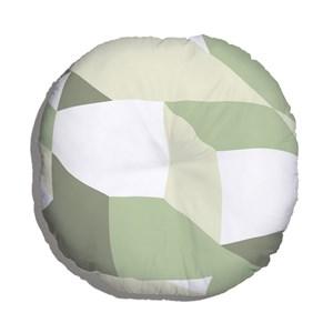 Almofada de Chão Geométrico Grande Verde