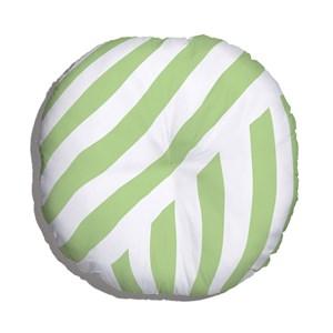 Almofada de Chão Geométrico Linhas Grossas Branco e Verde