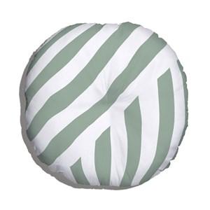 Almofada de Chão Geométrico Linhas Grossas Verde e Branco