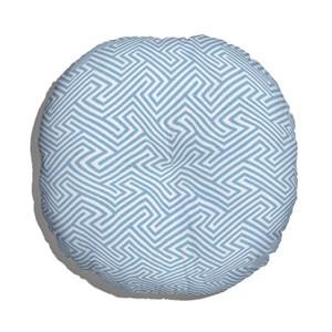 Almofada de Chão Ikat Linhas Azul e Branco V