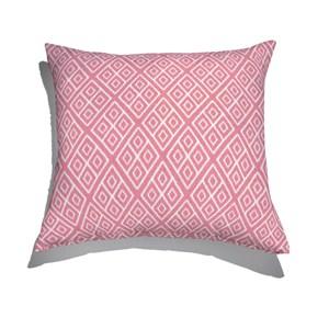 Almofada de Chão Ikat Losangos Rosa e Branco I