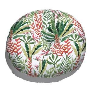 Almofada de Chão Paisagem tropical Verde e Branco