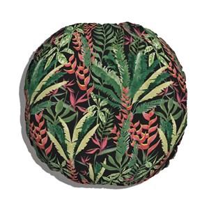 Almofada de Chão Paisagem tropical Verde e Preto
