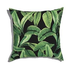 Almofada de Chão Paisagem tropical Verde e Preto I