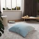 Almofada de Chão Quadrada Degradê Trinchado Azul e Branco