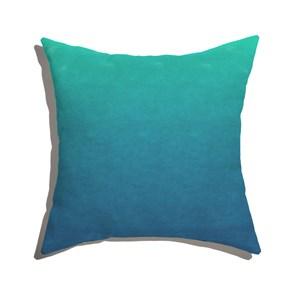 Almofada de Chão Quadrada Degradê Trinchado Azul e Verde