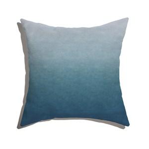 Almofada de Chão Quadrada Degradê Trinchado Azul Marinho
