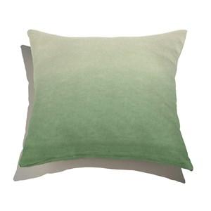 Almofada de Chão Quadrada Degradê Trinchado Branco e Verde