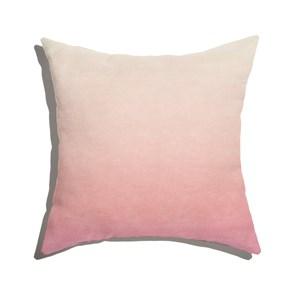 Almofada de Chão Quadrada Degradê Trinchado Rosa e Branco