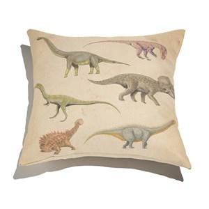 Almofada de Chão Quadrada Dinos fósseis Bege e Verde