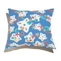 Almofada de Chão Quadrada Estrelas do Mar Branco e Azul