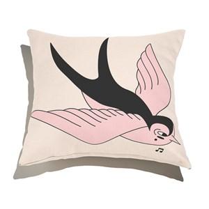 Almofada de Chão Quadrada Funny Dreams Rosa e Branco