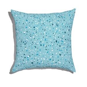 Almofada de Chão Quadrada Granilite Azul e Azul Marinho