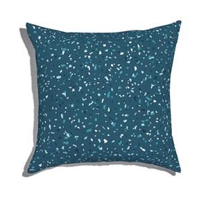 Almofada de Chão Quadrada Granilite Azul Marinho e Azul