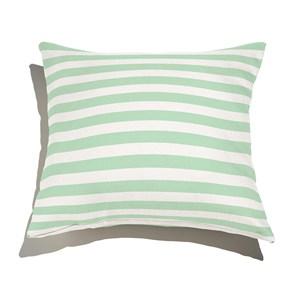 Almofada de Chão Quadrada Listras Casitas Verde e Branco
