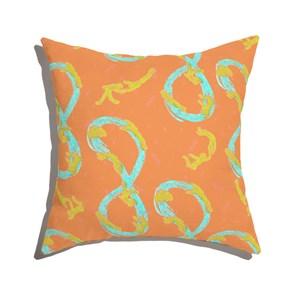 Almofada de Chão Quadrada Nadadores Amarelo e Azul