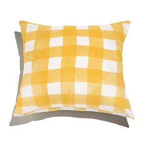 Almofada de Chão Quadrada Piquenique Amarelo e Branco