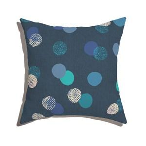 Almofada de Chão Quadrada Poás Azul Marinho e Azul