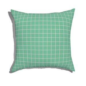 Almofada de Chão Quadrada Quadriculado Moderninho Verde e Rosa