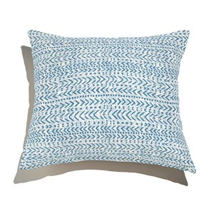 Almofada de Chão Quadrada Rustic Setas Azul