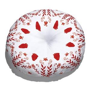 Almofada de Chão Redonda A cor mais quente Vermelho