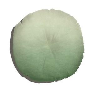 Almofada de Chão Redonda Degradê Trinchado Branco e Verde