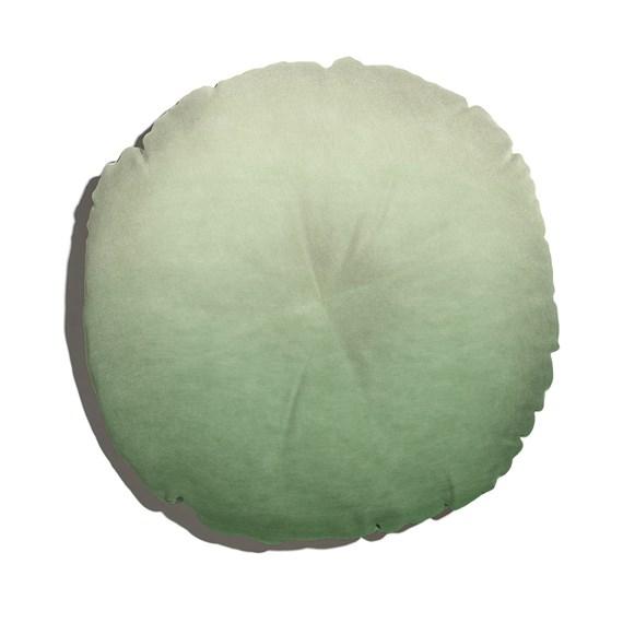 Almofada de Chão Redonda Degradê Trinchado Verde