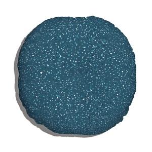 Almofada de Chão Redonda Granilite Azul Marinho e Azul