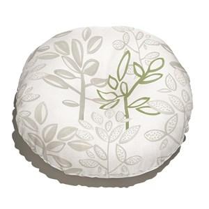 Almofada de Chão Redonda Plantinhas Bloom I Verde e Branco I