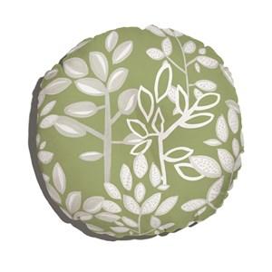 Almofada de Chão Redonda Plantinhas Bloom I Verde e Branco III