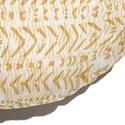Almofada de Chão Redonda Rustic Setas Amarelo