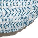 Almofada de Chão Redonda Rustic Setas Azul