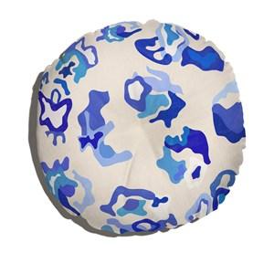 Almofada de Chão Tela Azul Bege e Azul