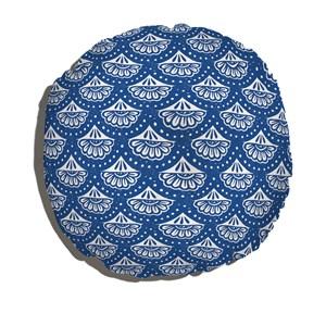 Almofada de Chão Vento Leste Azul e Branco I