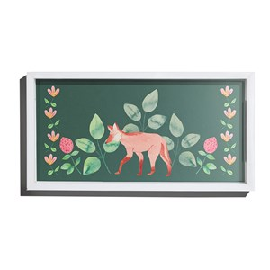 Bandeja Bosque Encantado Verde e Rosa