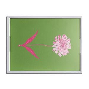 Bandeja Floral Cool Verde e Rosa