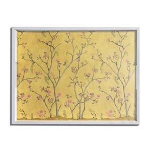 Bandeja Floral Japonaisserie Amarelo e Vermelho