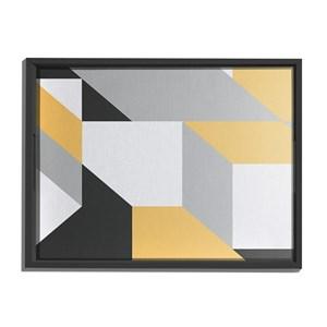 Bandeja Geométrico Grande Cinza e Amarelo