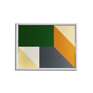 Bandeja Origami Verde e Preto